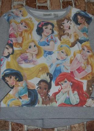 Свитшот кофта с принцесами дисней девочке  12 лет