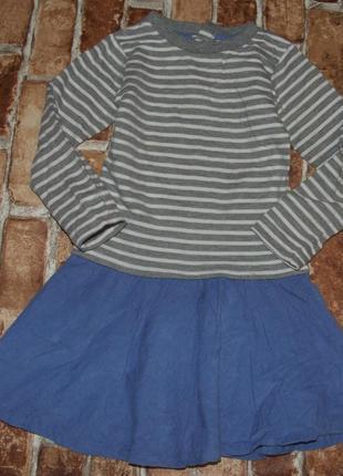 Теплое платье 3-4 года катон