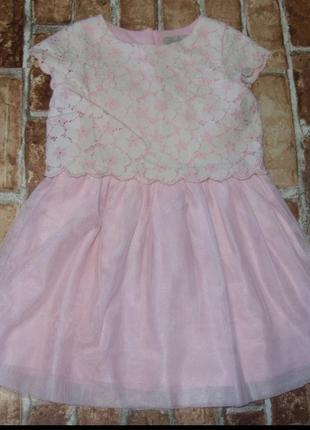 Платье нарядное пышно  1-2 года next