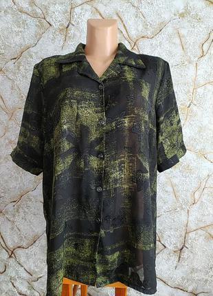 Женская летняя рубашка блузка большого размера
