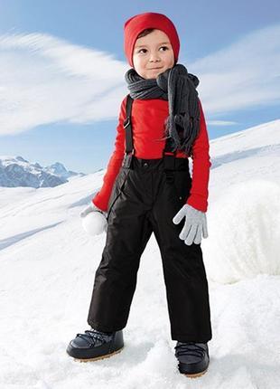 Зимние лыжные штаны для мальчика 1-2 года полукомбинезон lupilu