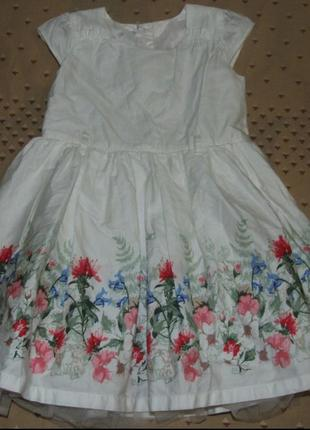 Платье нарядное 4-5 лет сток