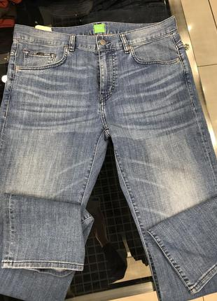Мужские джинсы голубого цвета оригинал hugo boss