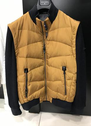 Куртка-жилет pierre cardin горчичного цвета, со скидкой -40%