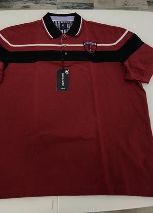Мужская футболка-поло красного цвета от pierre cardin