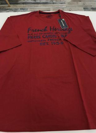 Мужская футболка бордо от pierre cardin