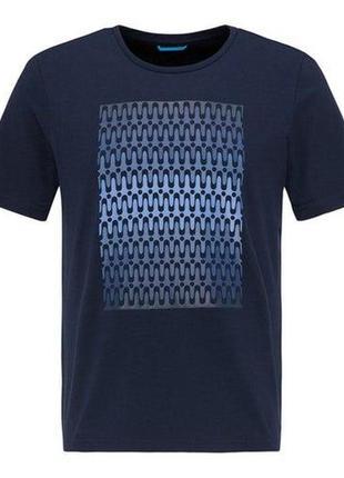 Мужская синяя футболка от pierre cardin