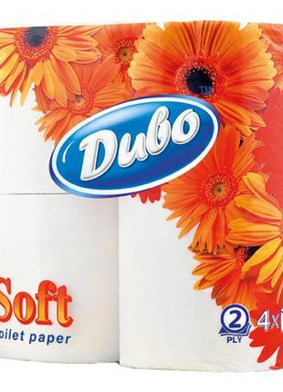 Туалетная бумага Диво белая двухслойная 4 рулона