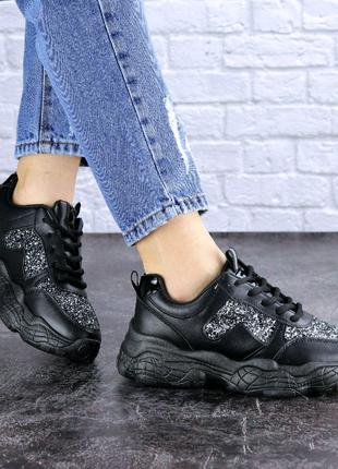 Женские черные кроссовки Pooter