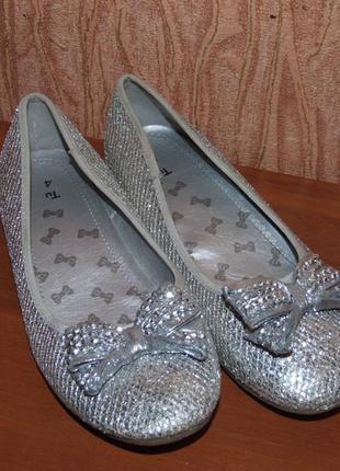 Туфли балетки тканевые 4 размер   стелька 23см притык