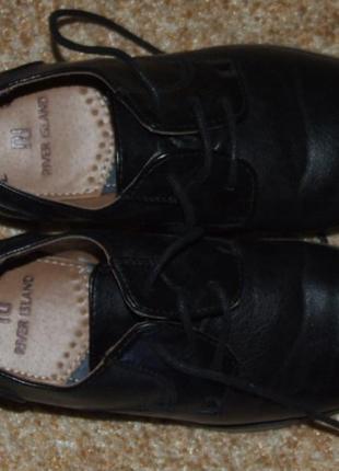 Туфли кожа мальчику 32 размер 22 см стелька river island