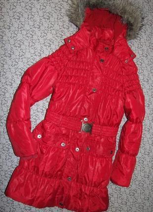 Куртка синтапон пальто зима некст 13-14лет
