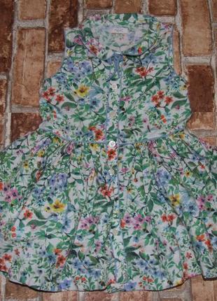 Платье лето хб 2-3года некст