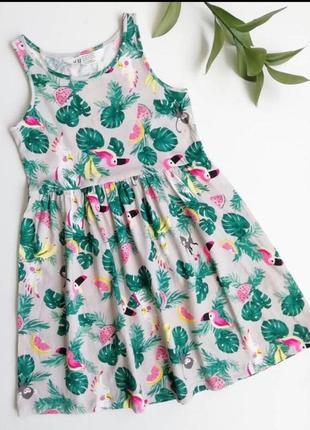 Платье сарафан легкое хлопок  4-10лет h&m новые