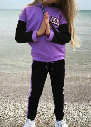 Детский костюм спортивный на девочку
