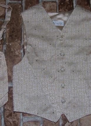 Набор жилетка и галстук 8лет сток