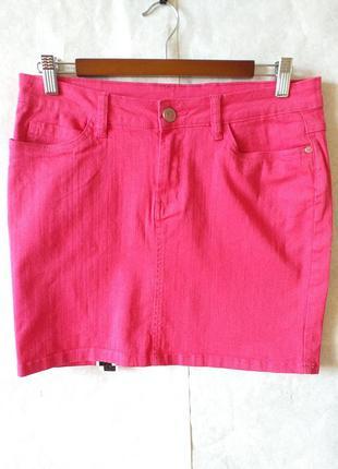 Esmara юбка стреч мини лето 38 с биркой малиновая/розовая