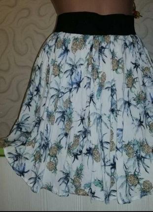 Лёгкая воздушная юбка на подкладке