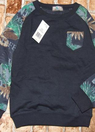 Кофта свитер начос бирка 3-8 лет  синяя