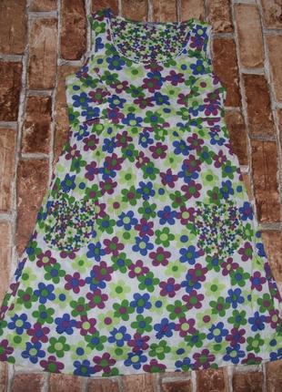 Платье котон 10-11лет сток
