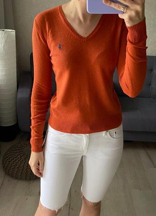 Шерстяной свитер/ джемпер с кашемиром ralph lauren