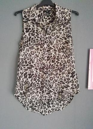 Блуза леопардовый принт h&m