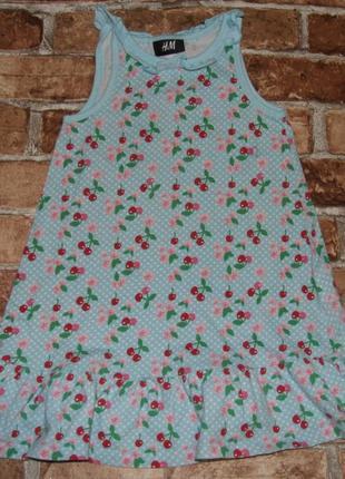 Платье котон лето 2-4года нм сток