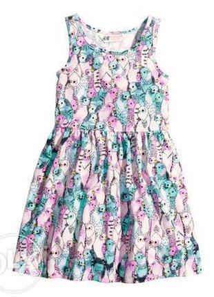 Платье хб лето 2-6лет нм сток