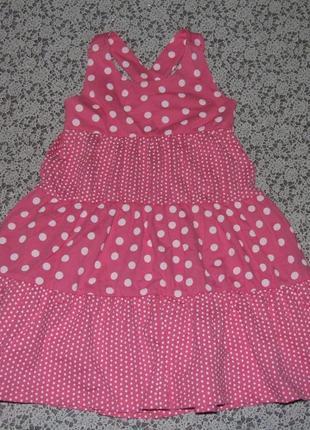 Платье хб лето 2-3года сток