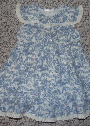 Платье котон лето 9-12мес сток