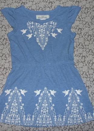 Платье трикотаж лето 2-4года сток