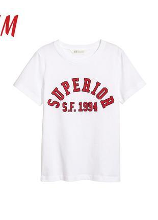 Новая котон футболка 10-14 лет  h&m