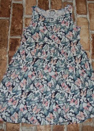 Платье хб лето 4-6лет h&m