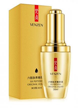 Пептидная сыворотка для лица для зрелой кожи Venzen Six Peptides