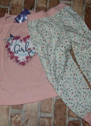 Пижама хлопок 2-4года лупилу новая