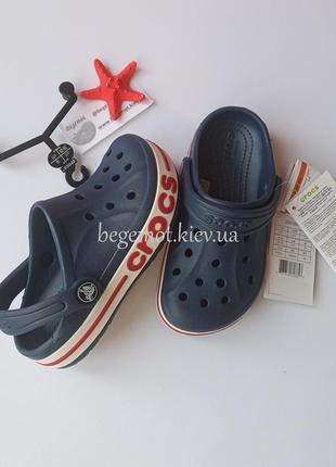 Детские кроксы на мальчика сабо crocs baya с7-j1 темно-синий