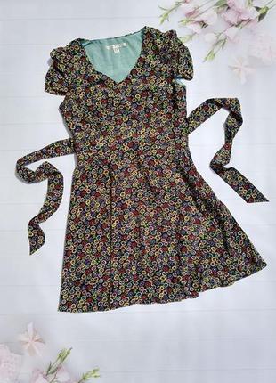 Платье с цветочным принтом плаття квітковий принт uttam london