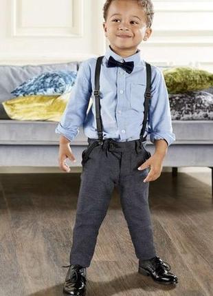 Штаны трикотаж брюки с подтяжками  lupilu 1-5 лет