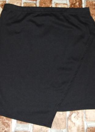 Мини юбка косуха  черная трикотаж 14 лет  девочке