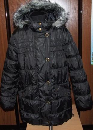 Куртка деми зима пальто синтапон 9-10 лет indigo