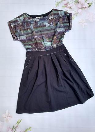 Платье с рисунком город плаття з карманами uttam london