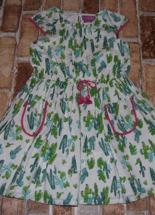 Платье хлопковое нарядное 5-6 лет