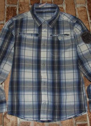 Хлопковая рубашка 10-11 лет