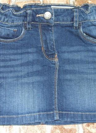 Юбка девочке  синяя джинс 3 - 4 года