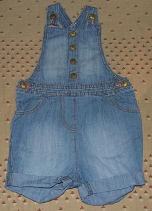 Ромпер джинсовый комбинезон 1-2 года