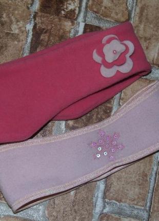 Флисовая повязка набор на голову 4-8 лет