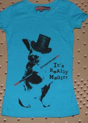 Хлопковая девочке сток футболка 4 - 6 лет