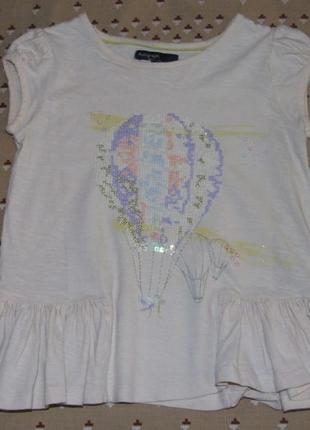 Хлопковая футболка 4-5 лет