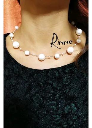 Ожерелье из жемчужных бусин