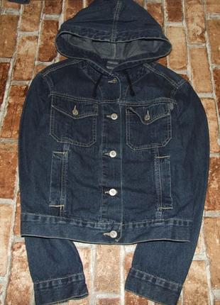 Пиджак джинс мальчику 13-14лет
